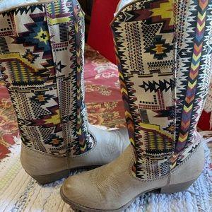 1acd95fe4d0 Big Buddha Shoes   Wayne Multi Southwest Print Vegan Boots   Poshmark